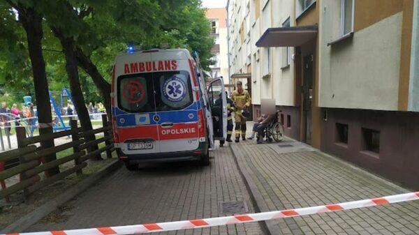 Wybuch butli z gazem w mieszkaniu w miejscowości Ozimek.(Zdjęcia)