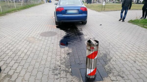 Kierująca audi śpieszyła się na cmentarz w Opolu.(Wideo)