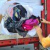 Transgraniczny przewóz odpadów bez wymaganego oznakowania.