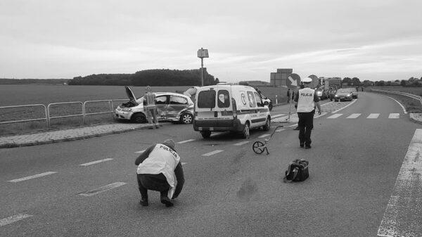 Wypadek śmiertelny na DW 414 w Chrzelicach.(Zdjęcia)