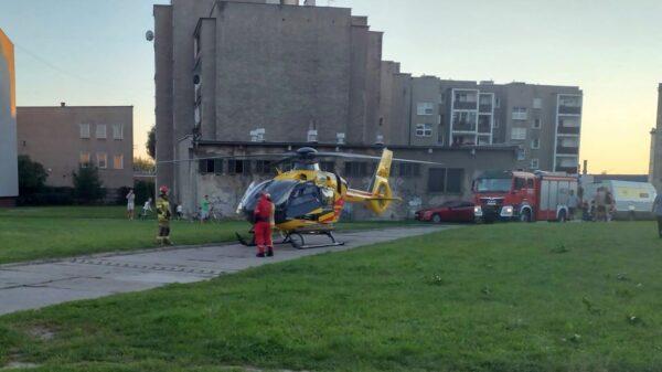 Bójka dwóch mężczyzn w Brzegu.Na miejsce wezwano wszystkie służby ratunkowe w tym LPR.(Wideo)