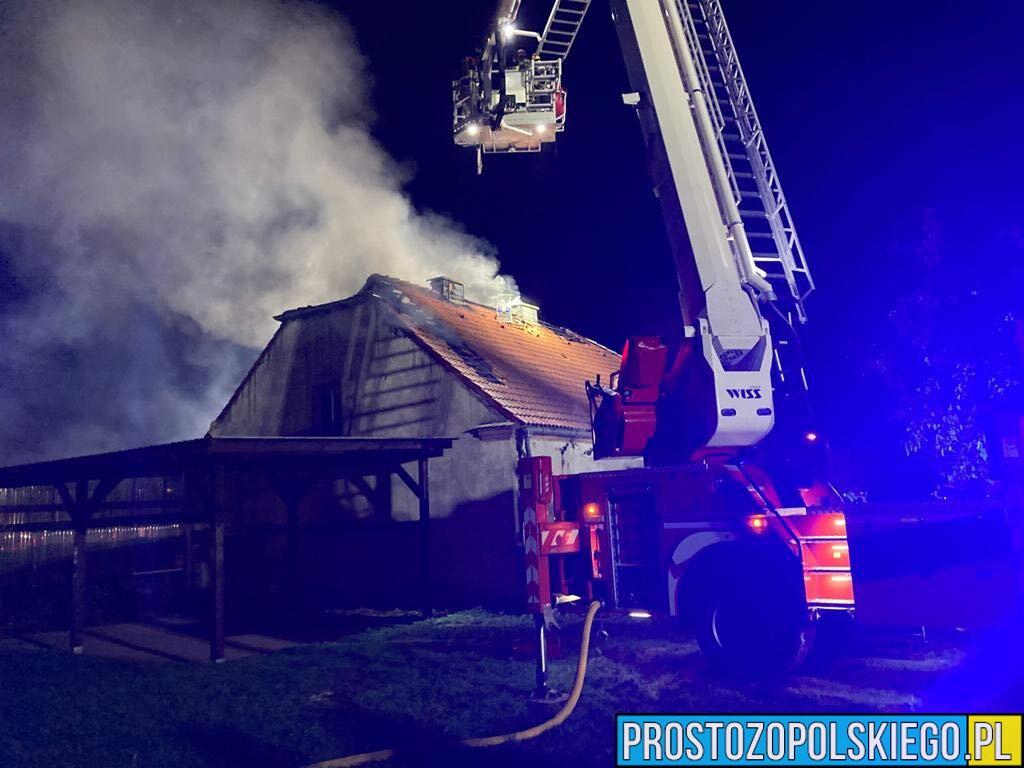 Wybuch gazu w budynku w Poznowicach. Jedna osoba został poszkodowana.(Wideo)
