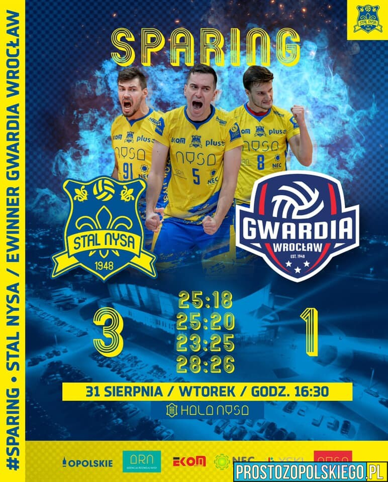 Pierwszy sparing udany. Stal lepsza od Gwardii Wrocław.