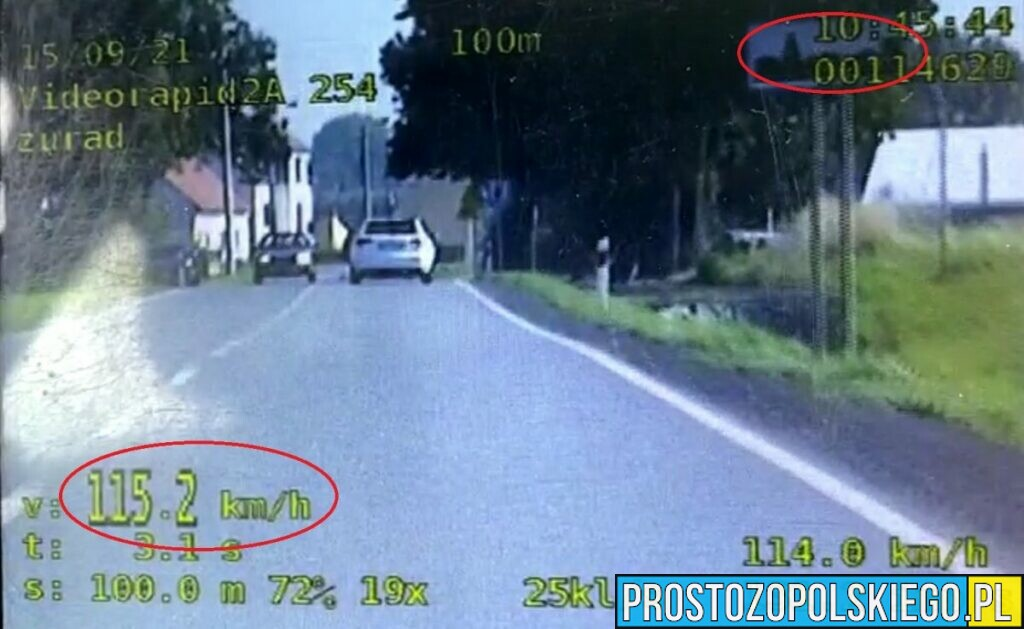 19-letni kierowca już stracił swoje prawo jazdy na 3 miesiące.
