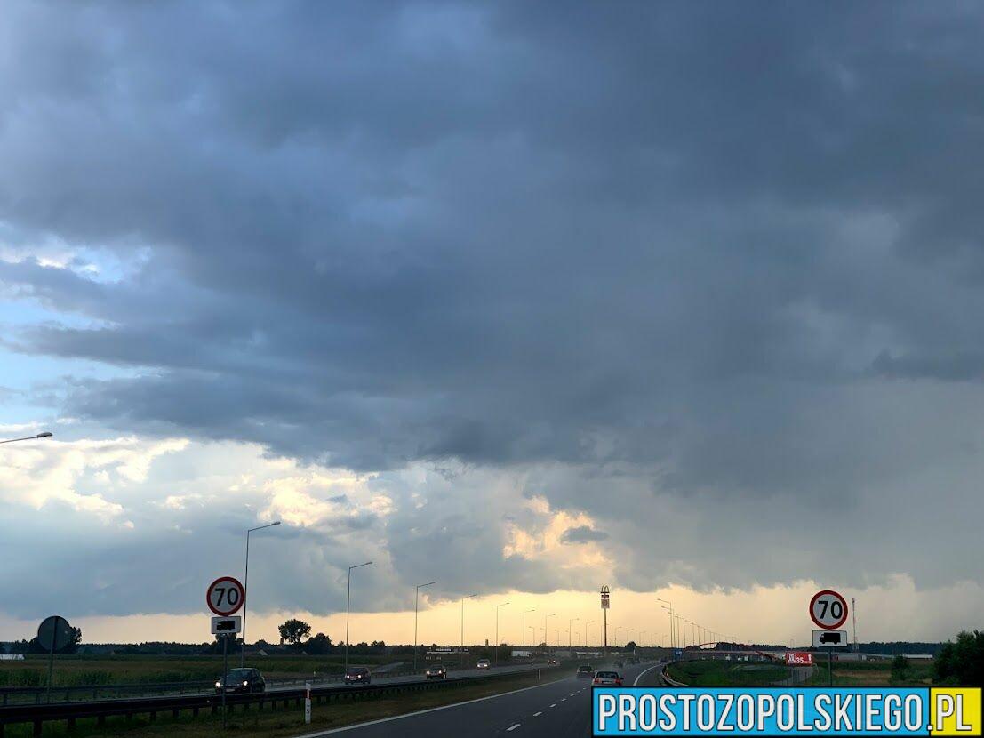Ostrzenie meteorologiczne dla województwa opolskiego.
