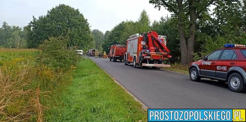 Zderzenie motocyklisty z busem na drodze powiatowej 11690 w powiecie Brzeskim.