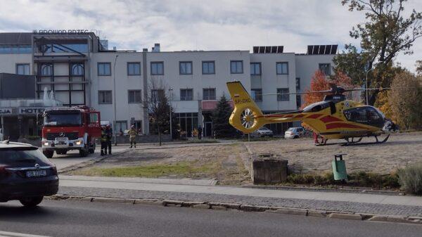 LPR lądował w Brzegu. Poszkodowany pilnie potrzebował pomocy.(Wideo)