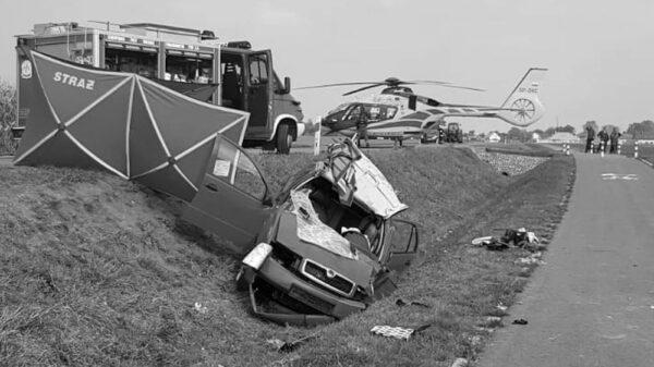 Wypadek śmiertelny na DW 414 w Prudniku.