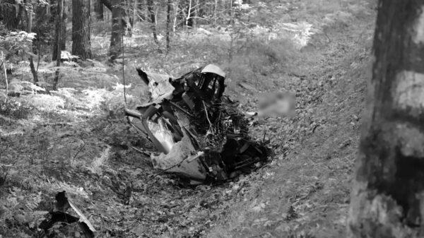 Wypadek śmiertelny w rejonie Ligoty Prószkowskiej koło Opola. Po uderzeniu w drzewo auto się rozpadło.(Zdjęcia&Wideo)