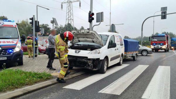 Wypadek na skrzyżowaniu Brzeg – Żłobizna.