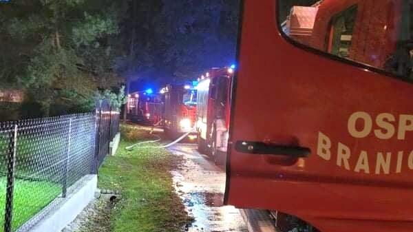 Pożar budynku w Jabłonce w gminie Branice